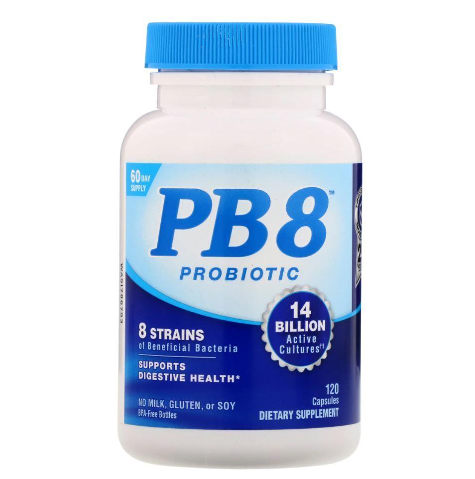 Pb8 Probiótico 120 capsulas - Importado Eua - Nutrition Now