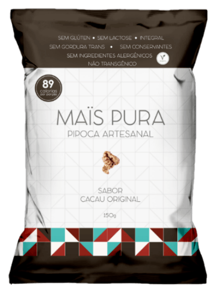 Pipoca Cacau Original 150g - Maïs Pura