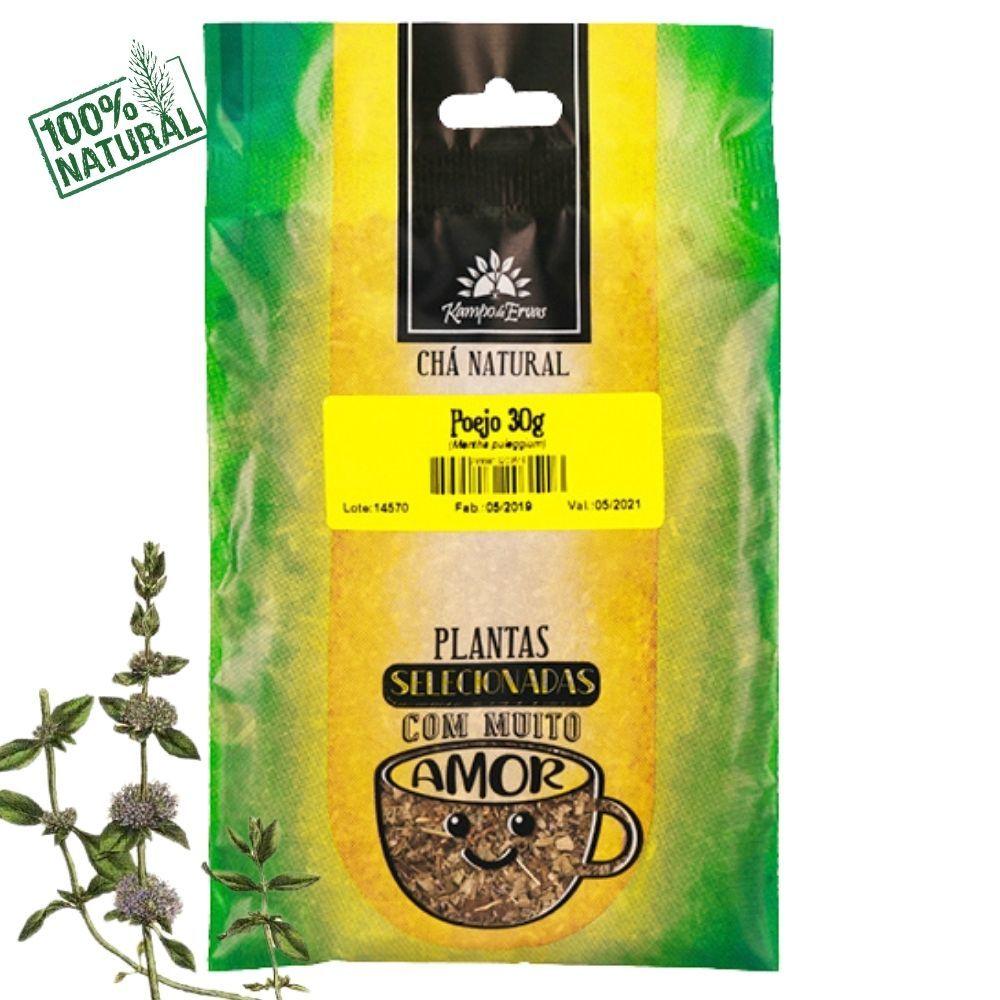 Poejo Chá Natural partes aéreas Kampo de Ervas 30 gramas
