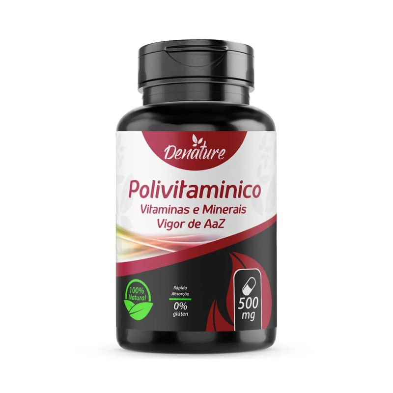Polivitaminico Multivitaminico 100 caps 1000mg com Biotina Zinco Magnesio Denature