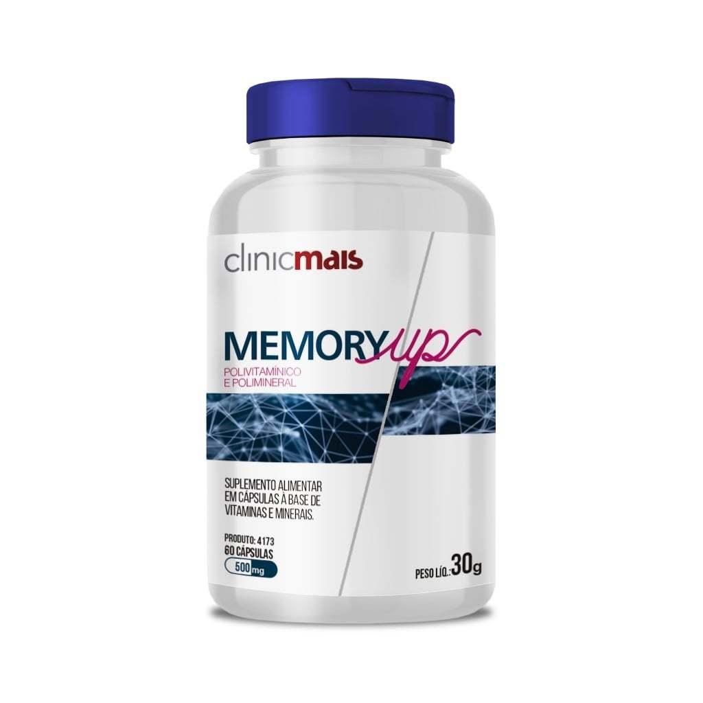 Polivitamínico + Polimineral Memory Up 60 Cápsulas 500mg