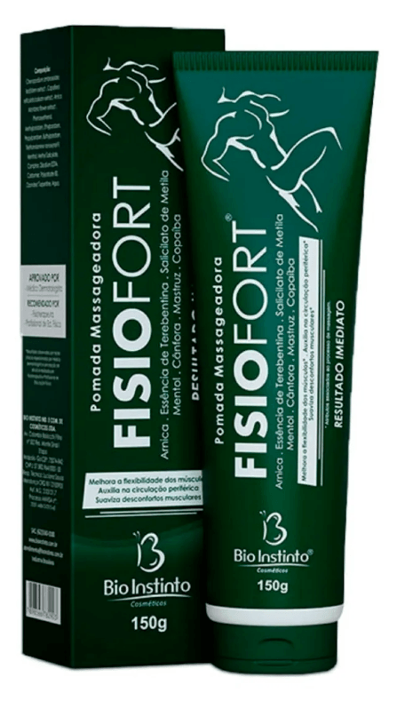 Pomada Massageadora Fisiofort 150g Verde Bio Instinto