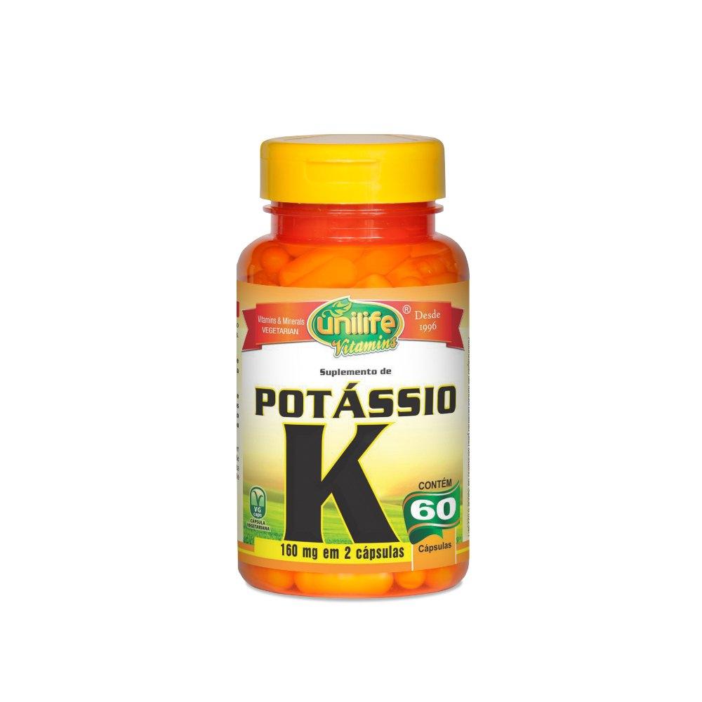 Potássio K 60 Cápsulas 560mg - Unilife