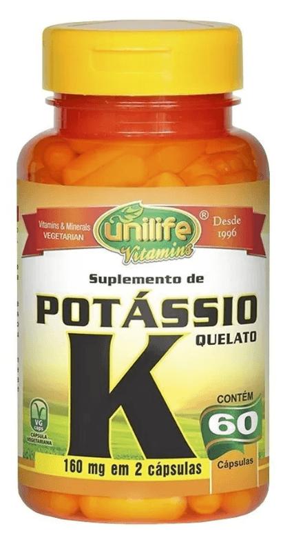 Potássio Quelato K 60 Cápsulas Unilife