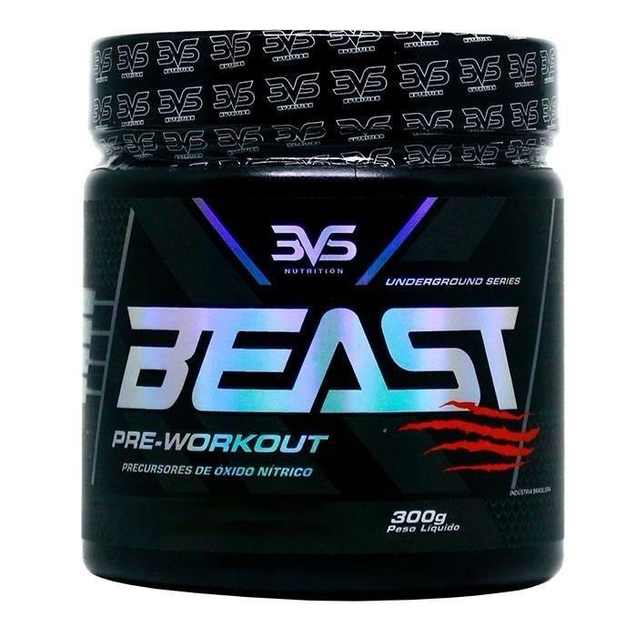 Pré-Treino Beast - 300G Frutas Vermelhas - 3Vs Nutrition