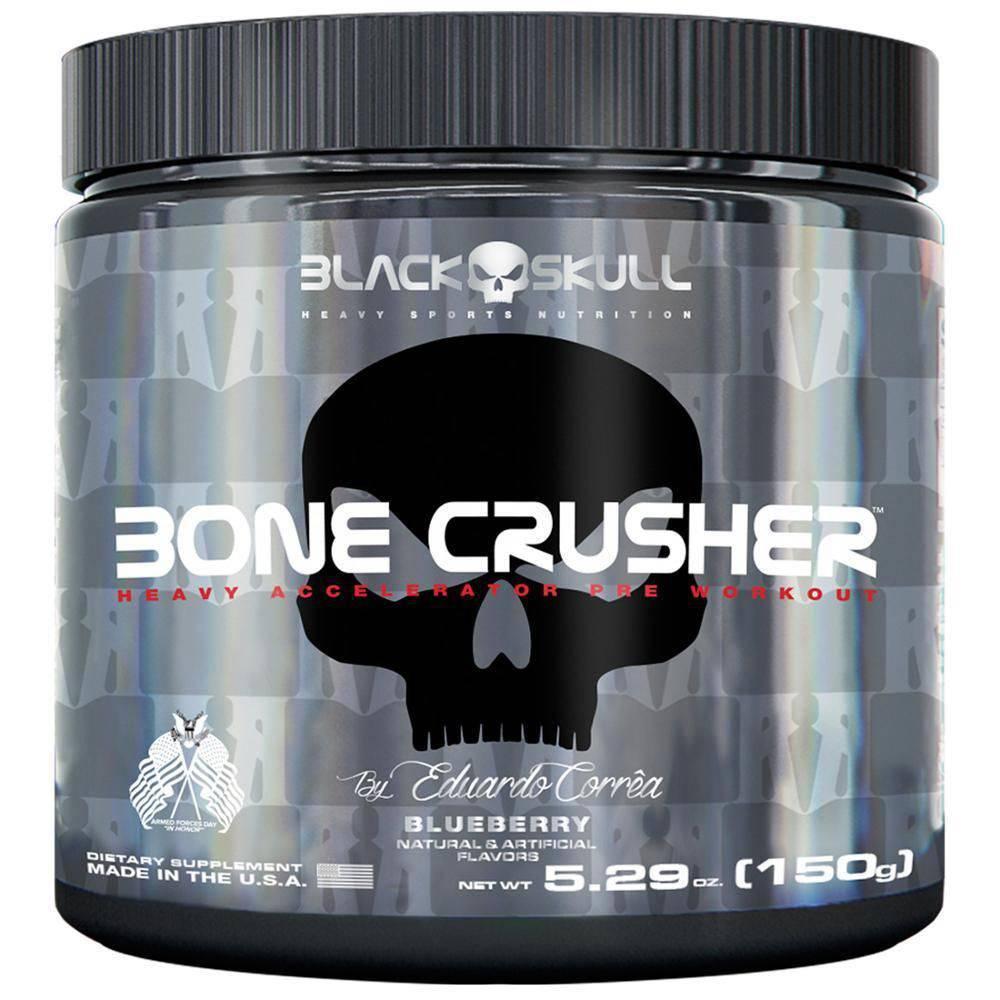 Pré-Treino Bone Crusher 150G - Blue Berry Black Skull