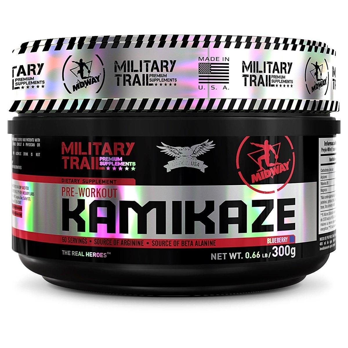 Pré-Treino Kamikaze Pre-Workout (300G) Military Trail -Blueberry