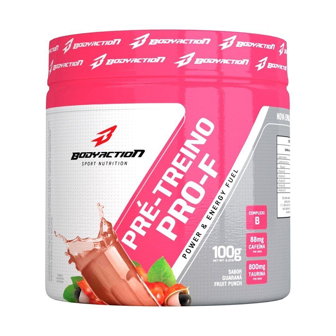 Pre-Treino Pro-F Body Action - 100G Guaraná Fruit Punch