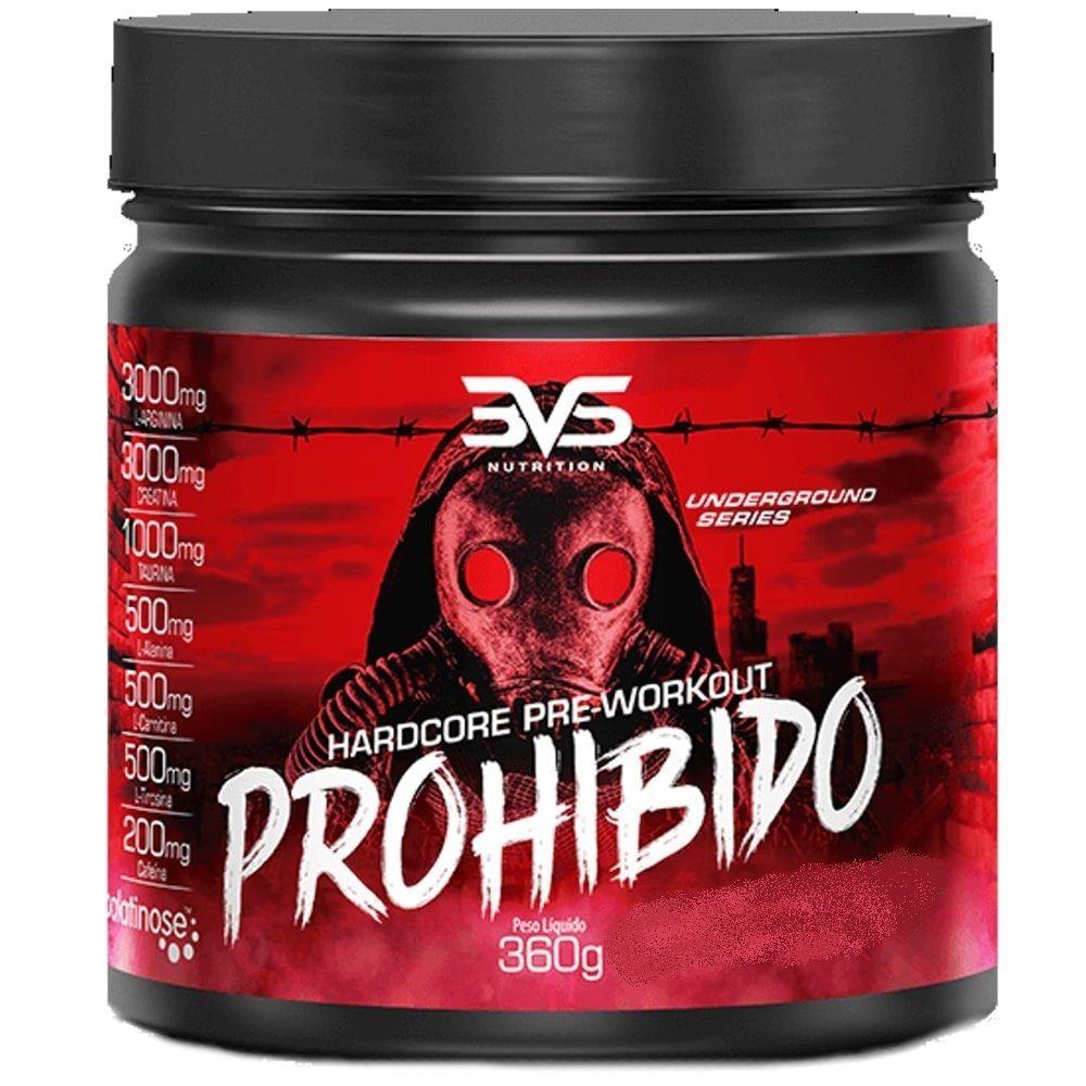 Pré-Treino Prohibido (360Mg) Fruit Punch - 3Vs Nutrition
