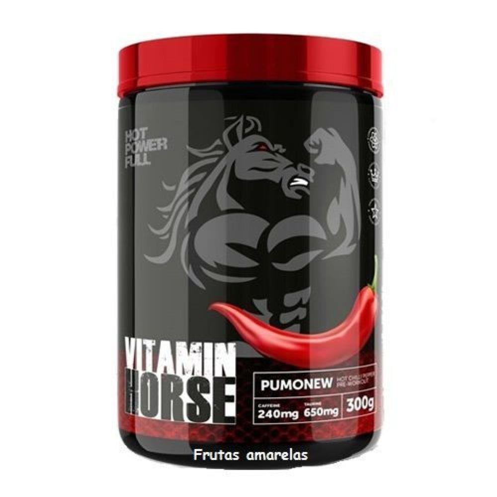 Pre-Treino Pumonew 300G Frutas Vermelhas Vitamin Horse