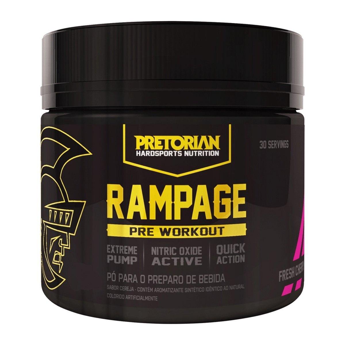 Pré-Treino Rampage Pre Workout 300Gr Açai Pretorian