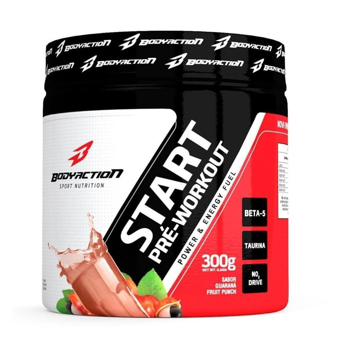 Pre-Treino Start Pre-Workout 300G Guarana Fruit Punch