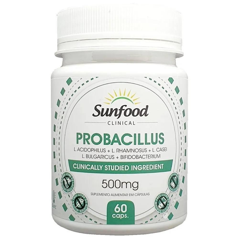 Probacillus Frutooligossacarídeos (FOS) 500 mg 60 Cáps. Sunfood