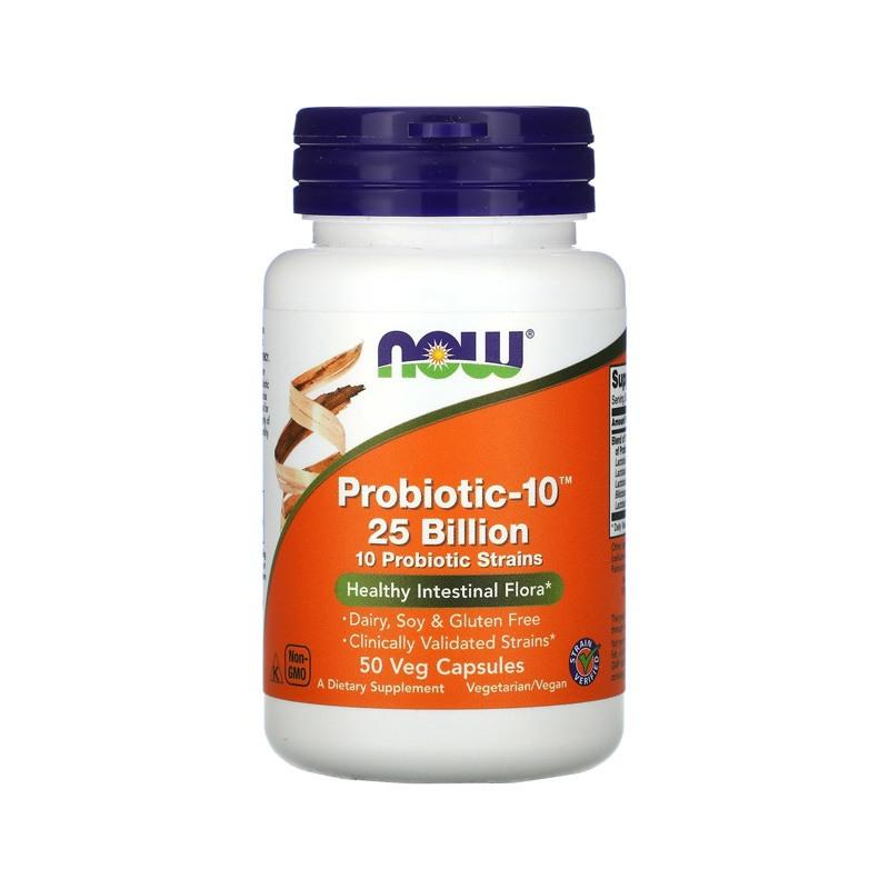 Probiótico 10 25 Bilhões 50 Cáps Now Foods Original E U A Saude digestão Saude Intestino