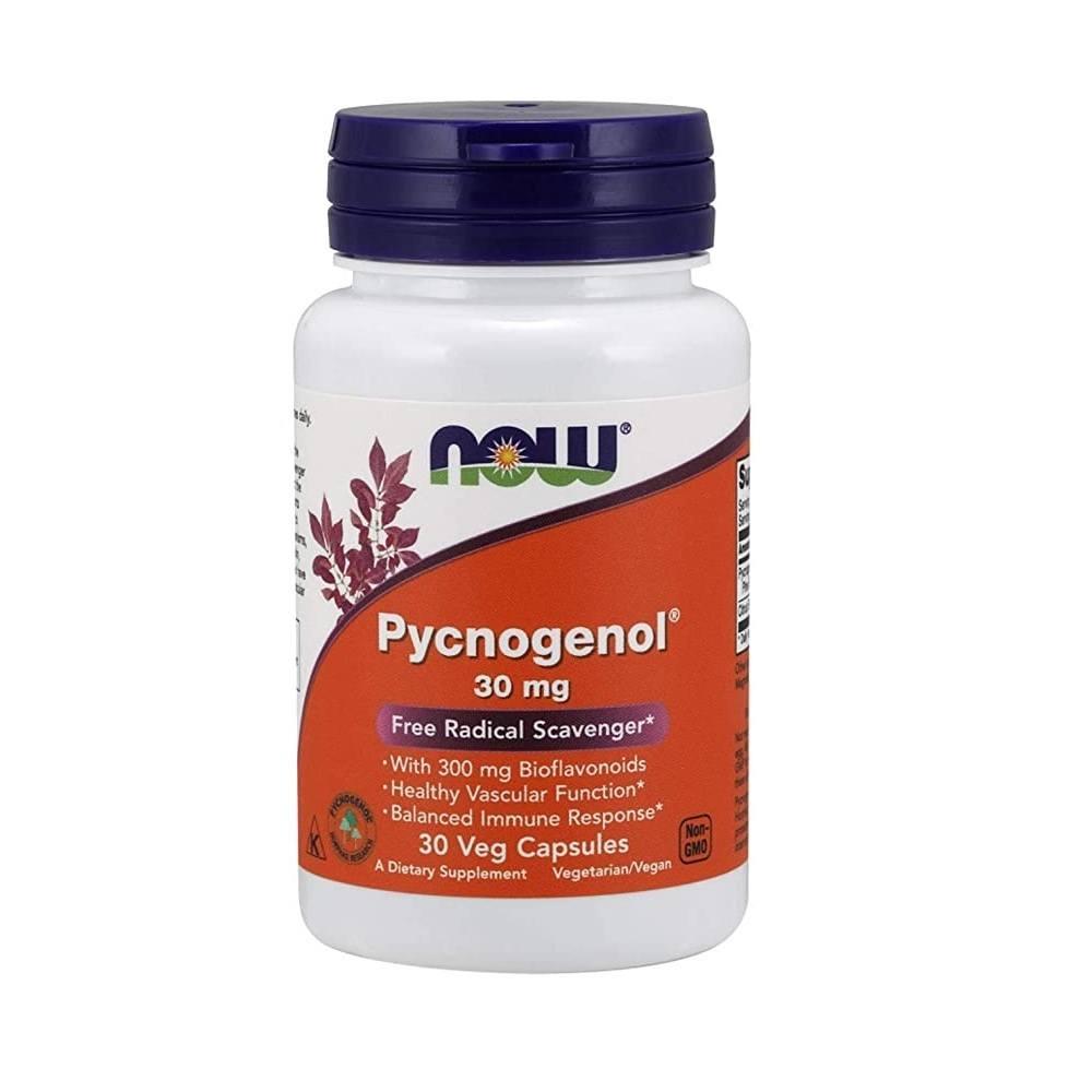 Pycnogenol 30 mg com Bioflavonóides 30 Cáps. Now Foods