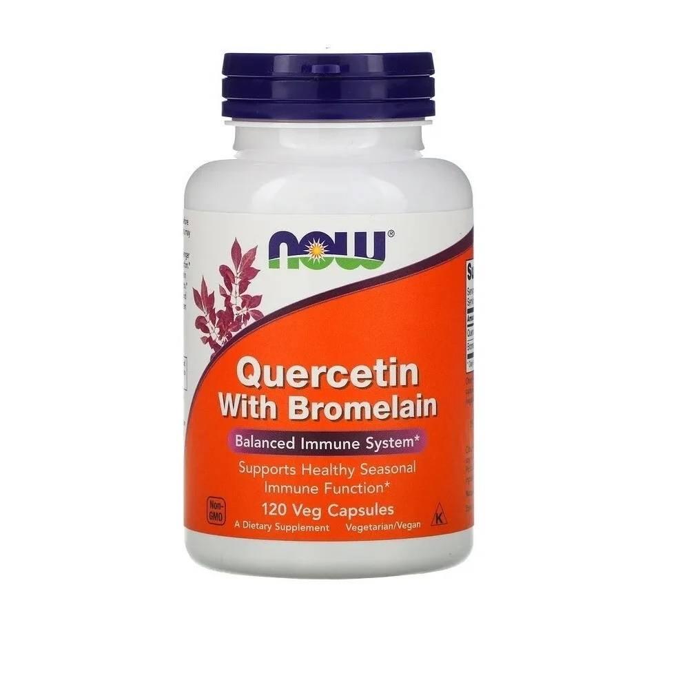 Quercetina com Bromelaína 120 Cáps. Now Foods