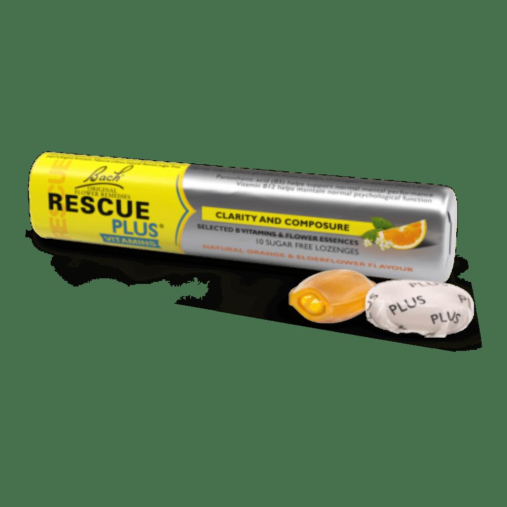 RESCUE PLUS - Drops Sabor Laranja com Vitaminas - 10 Drops