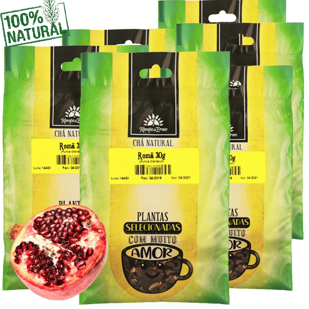 Romã Chá Puro 100% Casca do Fruto Kampo Ervas 6und 30g cada