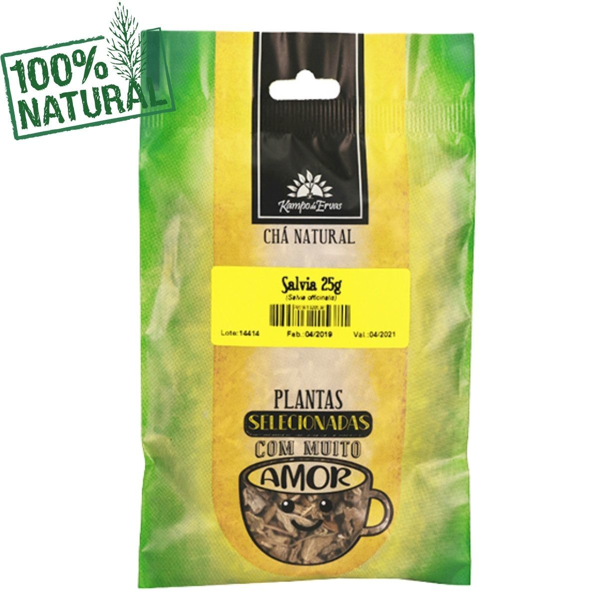 Sálvia Chá Natural só Folhas Kampo de Ervas 25 gramas
