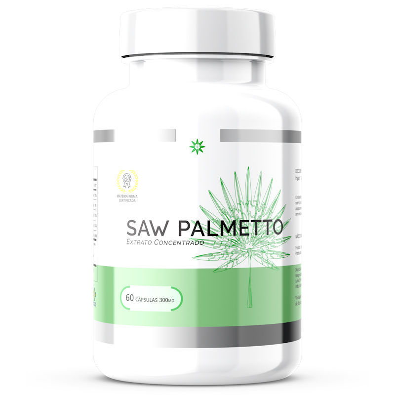 Saw Palmetto - 40% de Saponinas - 300mg 60 Cápsulas