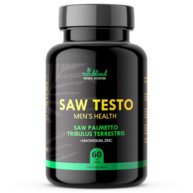 Saw Testo - Saúde do Homem - 500mg 60 Cápsulas