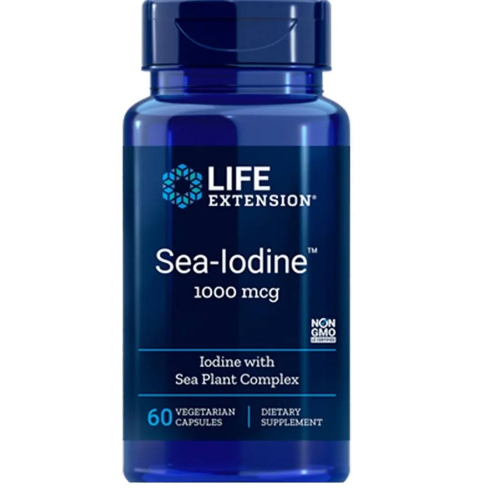 Sea Iodine Iodo Marinho 1000 mcg 60 Cáps. Life Extension