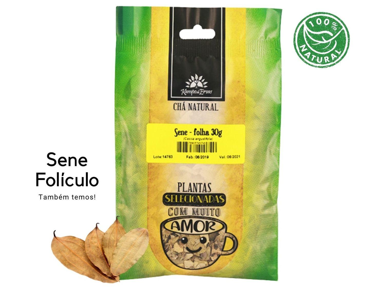 Sene Folha Chá 100% Natural Kampo de Ervas 30 gramas