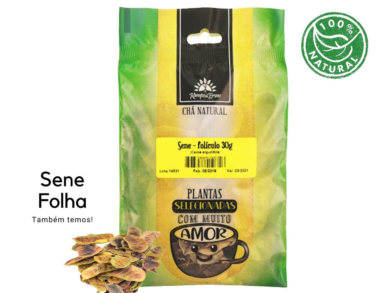 Sene Folículo Chá 100 % Natural Kampo de Ervas 30 gramas