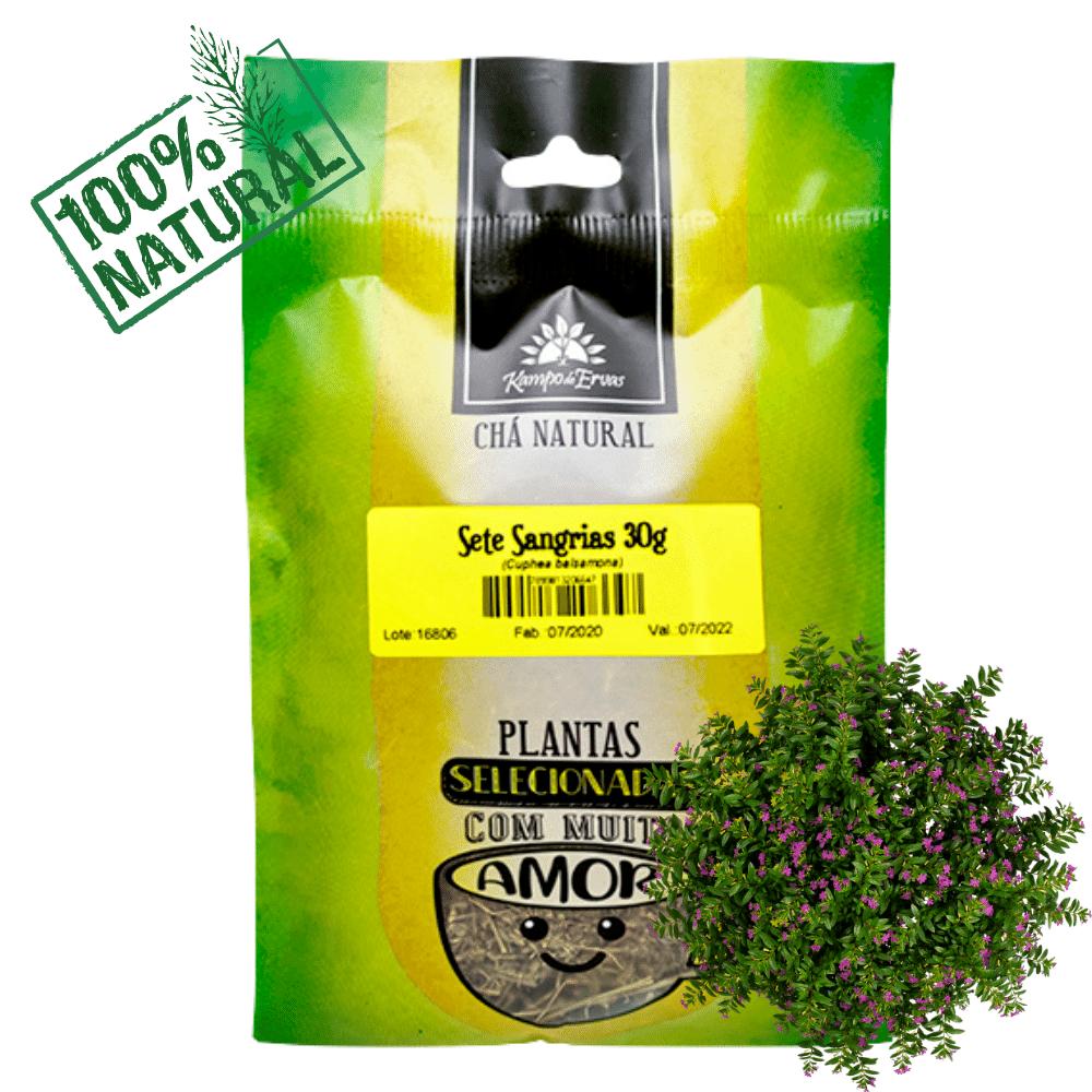 Sete Sangrias Chá 100 % Folhas 6 und de 30 g Kampo de Ervas
