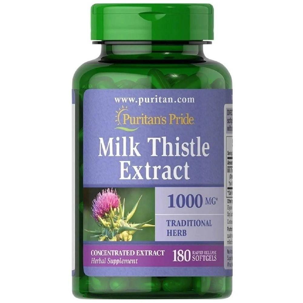 Silimarina 1000 mg Milk Thistle Extract 180 Softgels Puritans Pride