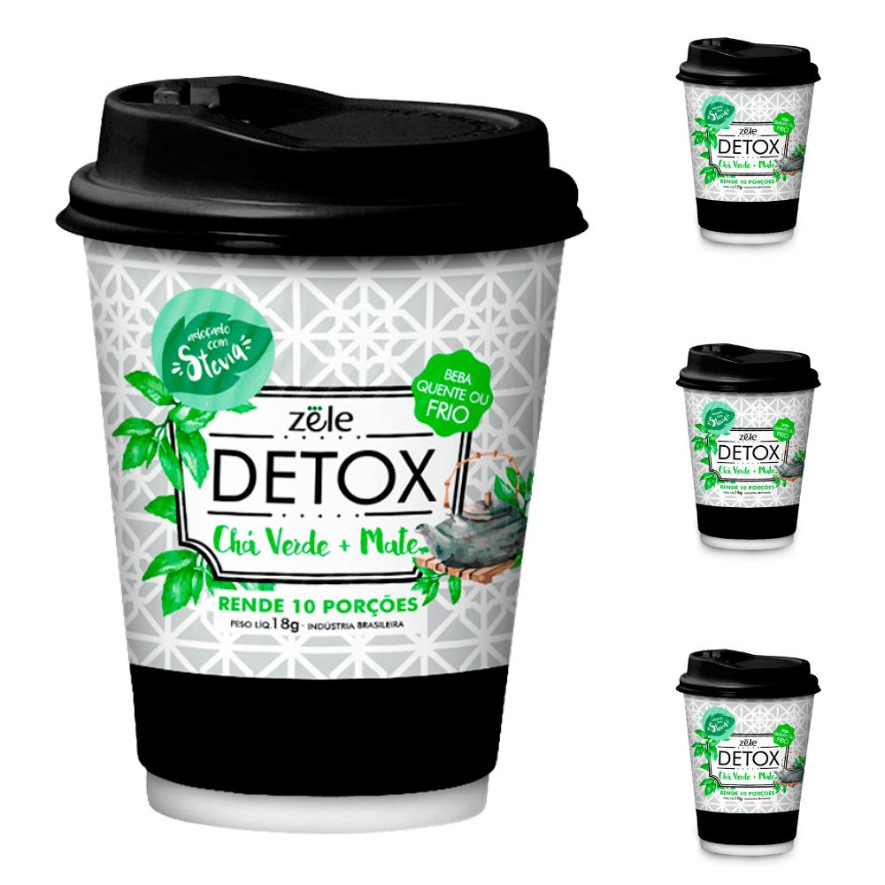 Suchá Detox Colágeno Chá Verde Mate Zële 30 Doses 18g cada