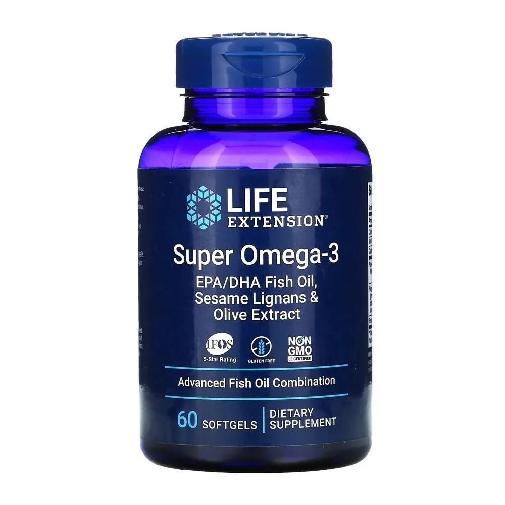 Super Omega 3 60 Softgels Life Extension