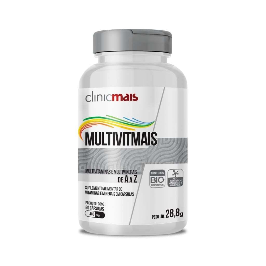 Suplemento Alimentar de Vitaminas e Minerais 60 Cápsulas
