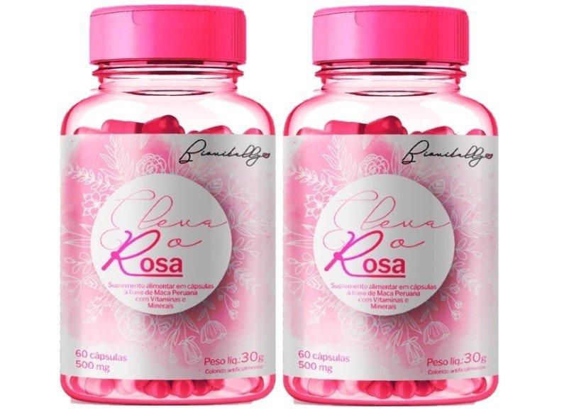Suplemento Alimentar Eleva o Rosa 60 Cápsulas 500mg 2 Unidades