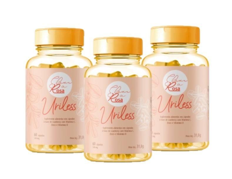 Suplemento Alimentar Uriless Ortomolecular 60 Cápsulas 530mg 3 Unidades