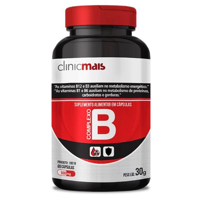 Suplemento de Vitamina B 60 Cápsulas 500mg