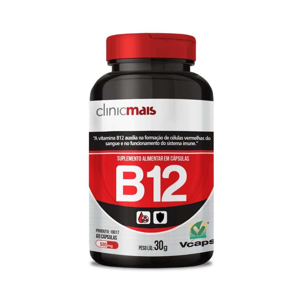 Suplemento de Vitamina B12 60 Cápsulas 500mg