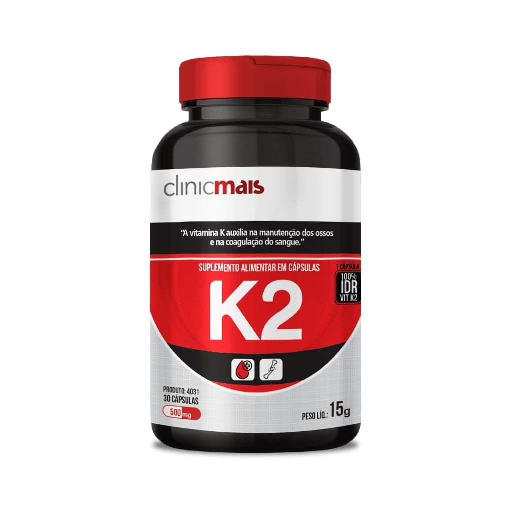 Suplemento de Vitamina K2 30 Cápsulas 500mg