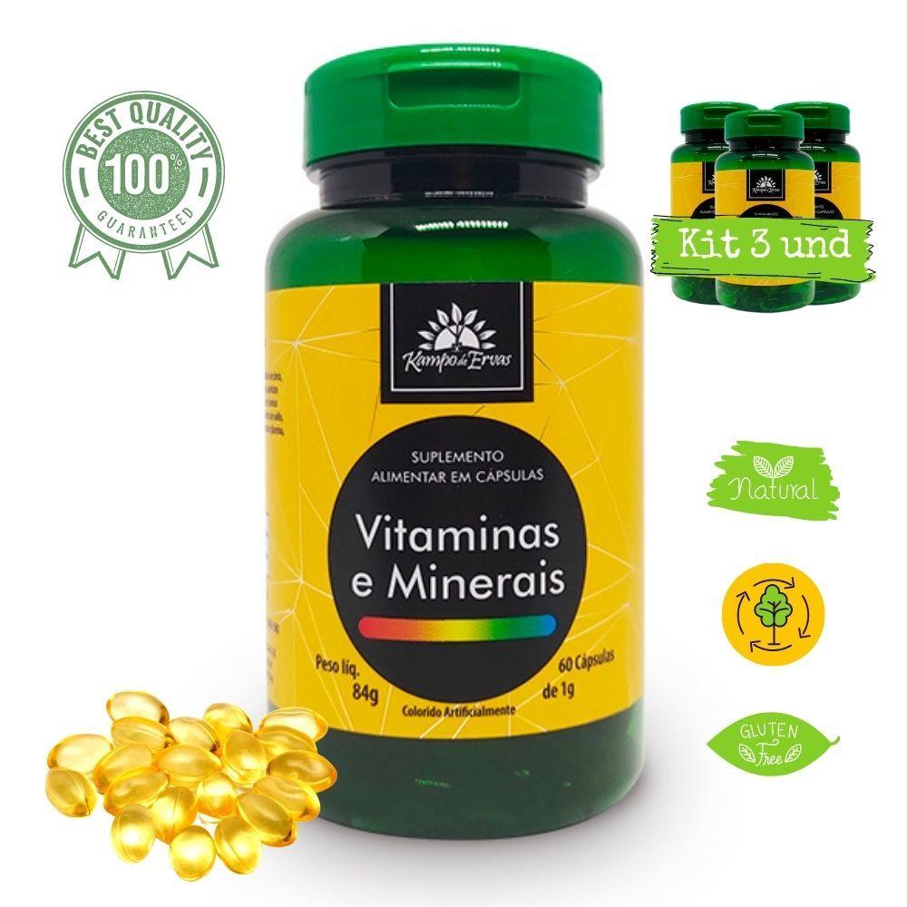 Suplemento de Vitaminas e Minerais 180cáps 1g Kampo de Ervas