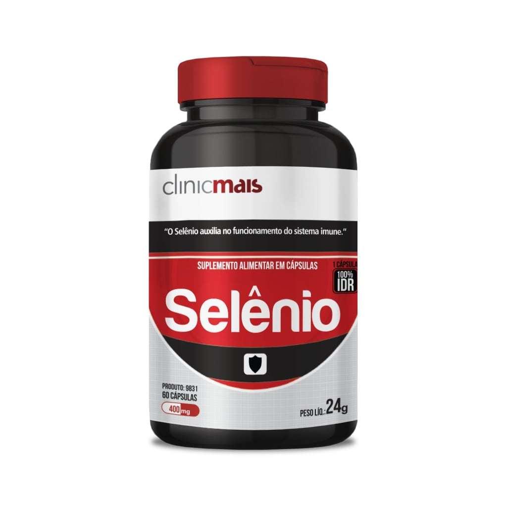 Suplemento Mineral de Selênio 60 Cápsulas 400mg