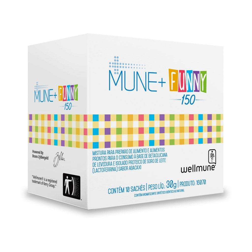 Suplemento MUNE+ Funny 150 Sabor Abacaxi 10 Sachês 30g