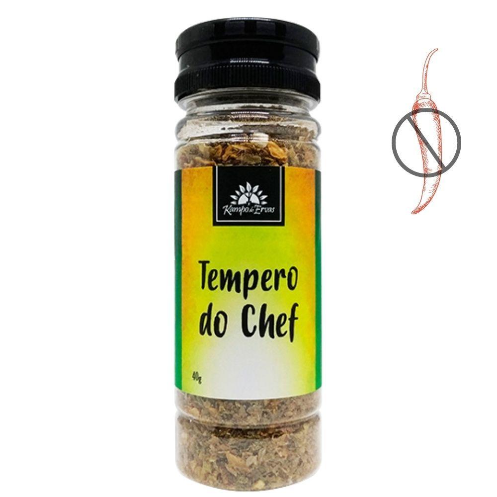 Tempero do Chef Cebola Alho Aipo Kampo de Ervas Frasco 40g