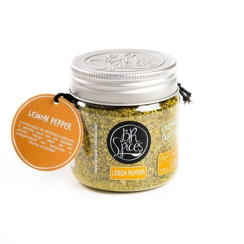 Tempero Lemon Pepper 100g - BR Spices
