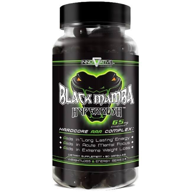 Termogenico Black Mamba Hyperrush Original Importado 90caps - Innovative Labs