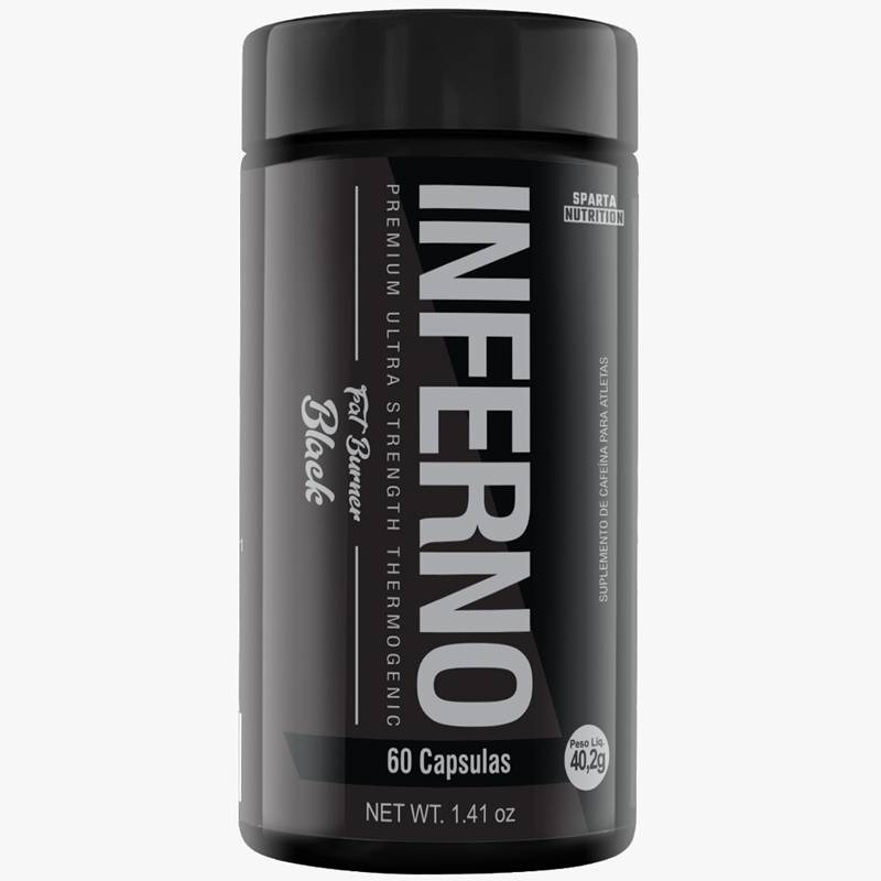 Termogênico Inferno Fat Burner Black 120 Mg 60 Caps Sparta Nutrition