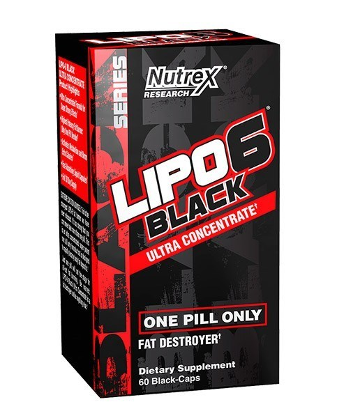 Termogenico Lipo 6 Black Ultra Concentrate 60 capsulas Liquidas - Nutrex - Importado Eua