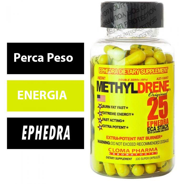 Termogenico Methyldrene 100 capsulas  Ephedra Original - Cloma Pharma   forte Importado Eua