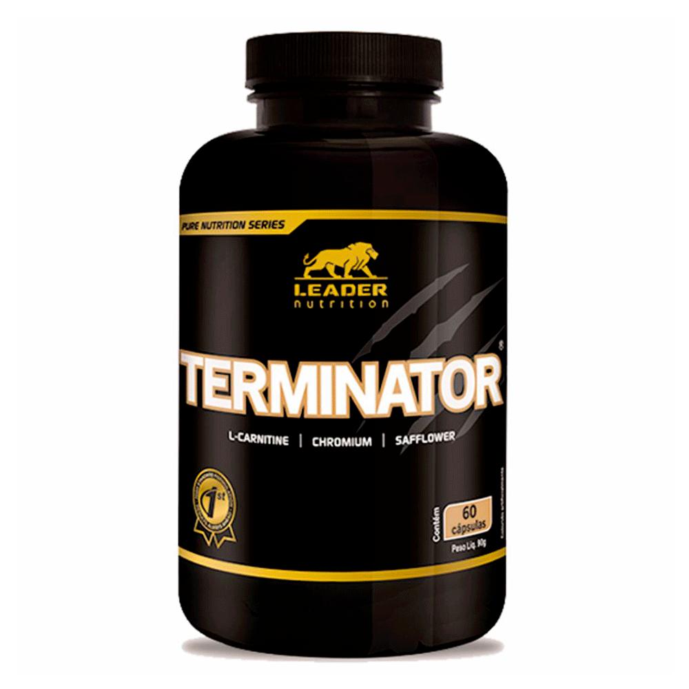 Termogênico Terminator (L - Carnitina + Cartamo + Guarana + Cromo) 60Caps Leader Nutrition