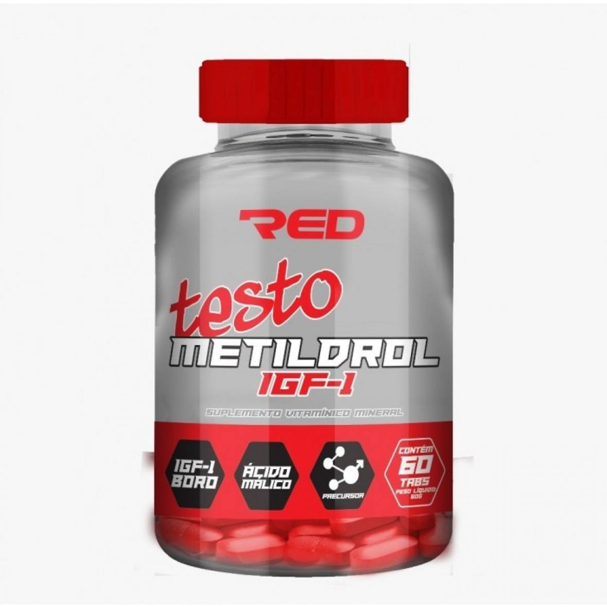 Testo Metildrol Igf-1 60 Tabletes Red Series