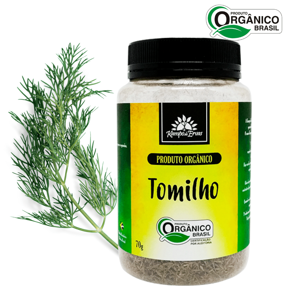 Tomilho PURO desidratado frasco 70 g  Orgânico e Certificado